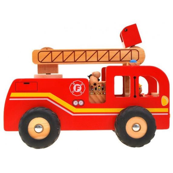 Fa tűzoltó autó Inlea4Fun FIRE TRUCK