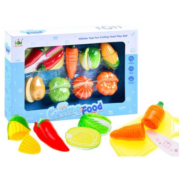 Inlea4Fun CUTTING FOOD Szeletelhető zöldségek vágódeszkával