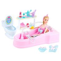 Fürdőszoba szett játékbabáknak Inlea4Fun BUBBLE BATHROOM
