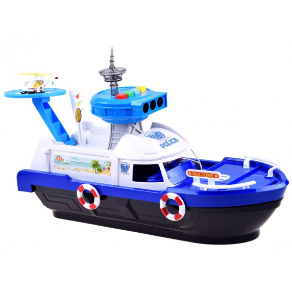 Rendőrhajó szett fénnyel és hanggal Inlea4Fun POLICE PORCE