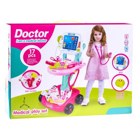 Orvosi kocsi 17 kiegészítővel Inlea4Fun MEDICAL PLAY SET