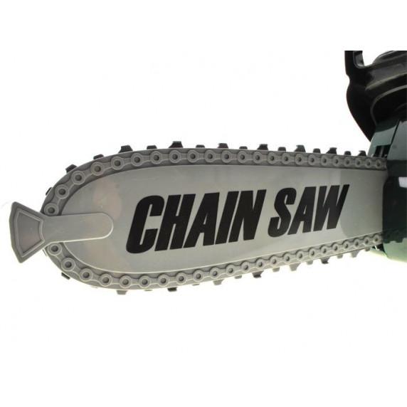 Játék láncfűrész Inlea4Fun CHAIN SAW - zöld