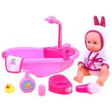 Inlea4Fun BATHTIME Fürdőszoba szett játékbabáknak Előnézet
