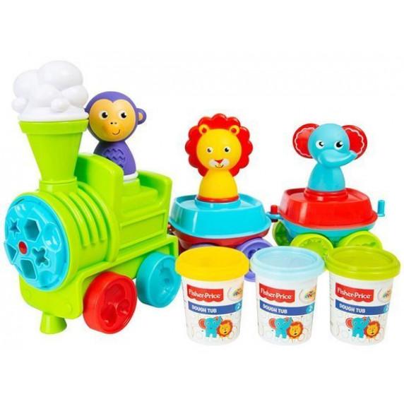 Vonat gyurmakészlet állatfigurákkal FISHER PRICE Dough Train