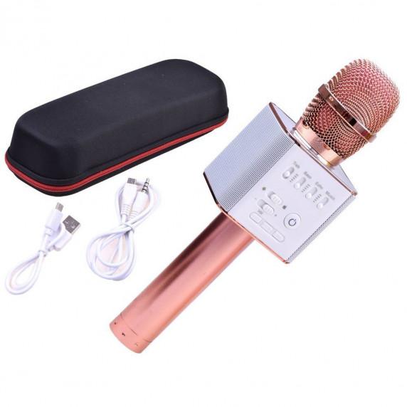 Vezeték nélküli karaoke mikrofon hangszóróval Inlea4Fun INOX - Rose