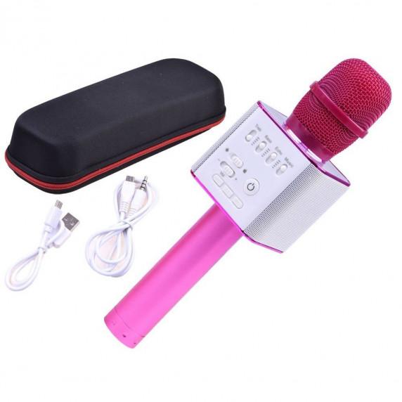 Vezeték nélküli karaoke mikrofon hangszóróval Inlea4Fun INOX - Rózsaszín