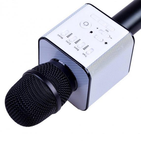 Vezeték nélküli karaoke mikrofon hangszóróval Inlea4Fun INOX - Fekete