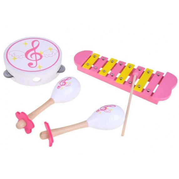 Fa gyerek hangszerek - rumbatök, xilofon, csörgődob Inlea4Fun MUSIC SET