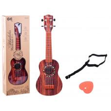 Inlea4Fun Ukulele gitár fa mintázattal  Előnézet