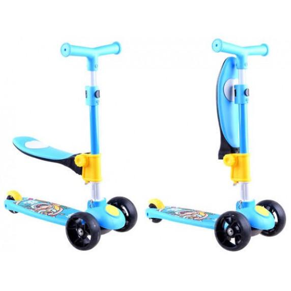 Roller / lábbal hajtós gyerekjármű 2az1-ben Inlea4Fun  - Kék