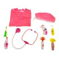 Orvosi játékszett Inlea4Fun MEDICAL SET - rózsaszín
