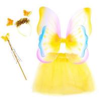 Inlea4Fun Tündér jelmez tartozékokkal - sárga
