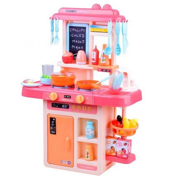 Inlea4Fun IGA Játékkonyha fény és hangeffektekkel 40 kiegészítővel - rózsaszín