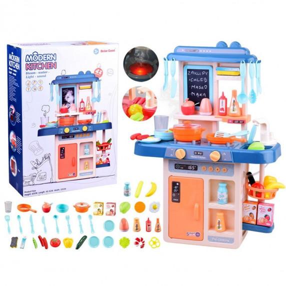 Inlea4Fun IGA Játékkonyha fény és hangeffektekkel 40 kiegészítővel - kék