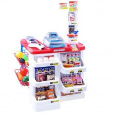 Inlea4Fun Stragan Supermarket bevásárló kocsival - Piros Előnézet