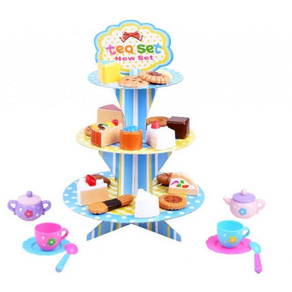 Inlea4Fun TEA PARTY Sütemény állvány kiegészítőkkel
