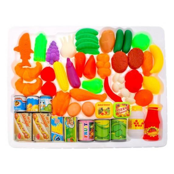 Inlea4Fun FUNNY FOOD Játék élelmiszer készlet 52 darabos