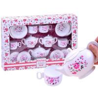Inlea4Fun Teáskészlet 18 kiegészítővel - Fehér/rózsaszín