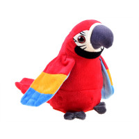 Beszélő plüss papagáj Inlea4Fun ADORABLE ANIMAL - piros