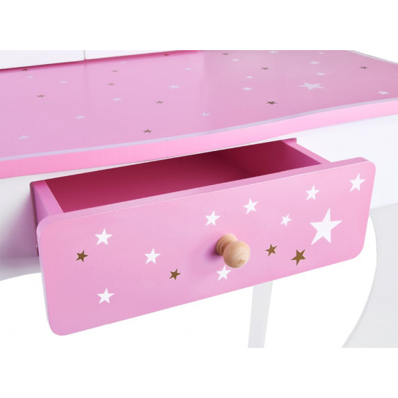 Fésülködő asztal gyerekeknek Inlea4Fun ZA3718 - fehér/rózsaszín