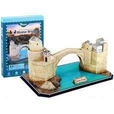 3D puzzle Mostari öreg híd MAGIC PUZZLE - 64 darabos Előnézet