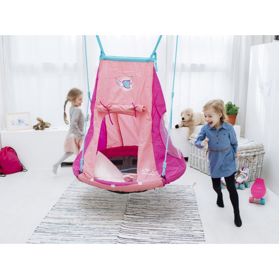 Fészekhinta sátorral SPARTAN 110 cm - Kék
