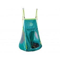 Hudora 72152 Fészekhinta 90 cm sátorral - Zöld Előnézet