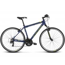 """KROSS Cross Kerékpár Evado 1.0 19"""" M 2019 - matt sötétkék / lime"""
