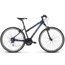 """KROSS Cross Kerékpár Evado 3.0 19"""" DL 2019 - fényes sötétkék / zöld Előnézet"""