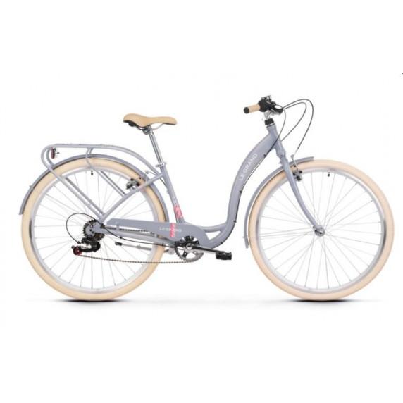 """Női városi kerékpár LE GRAND Utility Lille 2 19"""" L 2022 - fényes szürke"""