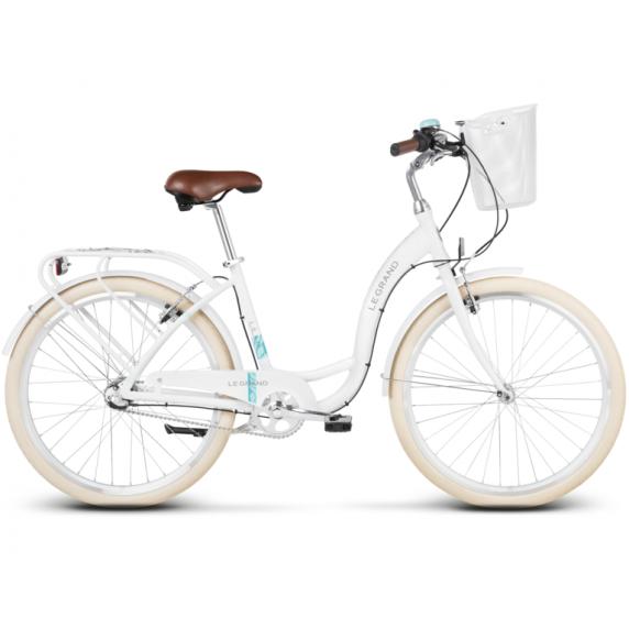 """LE GRAND Utility Női városi kerékpár Lille 3 15"""" S 2019 - fényes fehér"""