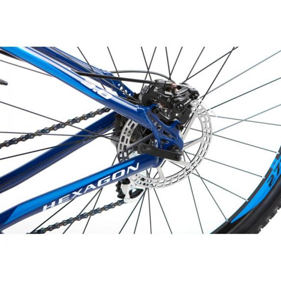 """KROSS MTB Hegyi kerékpár HEXAGON 3.0 21"""" L 2021 - fényes kék / fehér"""