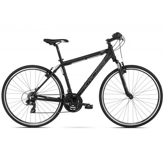 "KROSS Cross Kerékpár Evado 1.0 21"" L 2021 - matt fekete / grafit szürke"