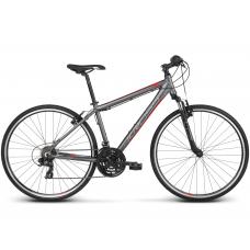 """KROSS Cross Kerékpár Evado 1.0 17"""" S 2020 - matt grafit szürke / piros Előnézet"""