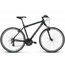 """KROSS Cross Férfi kerékpár Evado 2.0 17"""" S 2020 - matt fekete / zöld Előnézet"""