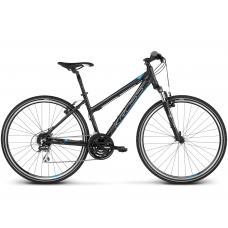"""KROSS Cross Kerékpár Evado 3.0 19"""" DL 2020 - matt fekete / kék Előnézet"""