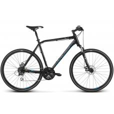 """KROSS Cross Férfi kerékpár Evado 4.0 17"""" S 2020 - matt fekete / kék Előnézet"""