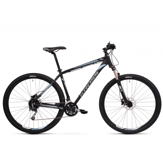 """KROSS MTB Hegyi kerékpár HEXAGON 8.0 15"""" XS - matt fekete / grafit szürke / acélkék"""