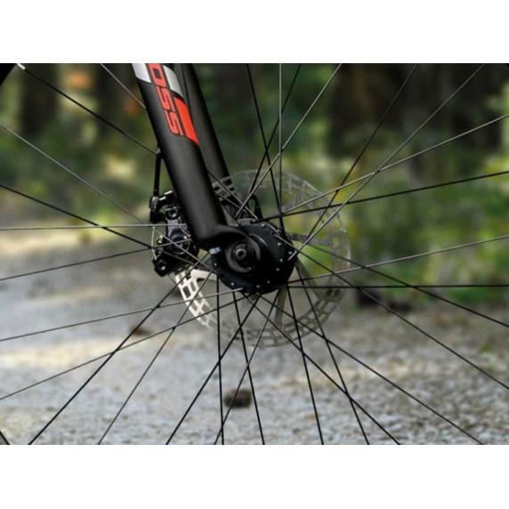 """KROSS MTB Hegyi kerékpár HEXAGON 3.0 19"""" M 2021 - matt fekete / piros / ezüst"""