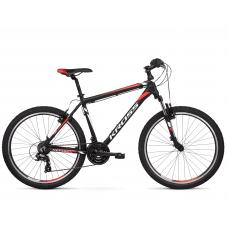 """KROSS MTB Hegyi kerékpár HEXAGON 1.0 14"""" XS - matt fekete / fehér / piros Előnézet"""