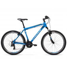 """KROSS MTB Hegyi kerékpár HEXAGON 1.0 14"""" XS - matt kék / ezüst / fekete Előnézet"""