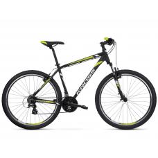"""KROSS MTB Hegyi kerékpár HEXAGON 2.0 14"""" XS - matt fekete / fehér / lime Előnézet"""
