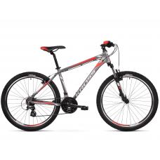 """KROSS MTB Hegyi kerékpár HEXAGON 2.0 17"""" S - matt grafit szürke / ezüst / piros Előnézet"""