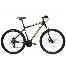 """KROSS MTB Hegyi kerékpár HEXAGON 3.0 14"""" XS - matt fekete / lime / ezüst Előnézet"""