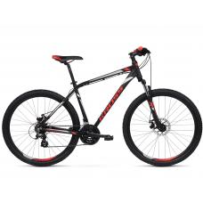 """KROSS MTB Hegyi kerékpár HEXAGON 3.0 14"""" XS - matt fekete / piros / ezüst Előnézet"""