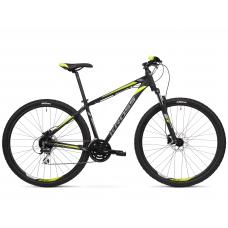 """KROSS MTB Hegyi kerékpár HEXAGON 5.0 17"""" S - matt fekete / grafit szürke / lime Előnézet"""