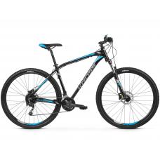 """KROSS MTB Hegyi kerékpár HEXAGON 7.0 15"""" XS - fényes fekete / grafit szürke / kék Előnézet"""