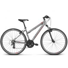 """KROSS Cross Női kerékpár Evado 2.0 19"""" DL 2019 - matt ezüst / piros Előnézet"""