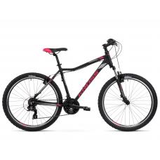 """KROSS MTB WOMAN Női hegyi kerékpár LEA 1.0 13"""" XXS - matt fekete / málna / grafit szürke Előnézet"""