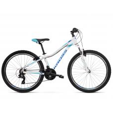 """KROSS MTB WOMAN Női hegyi kerékpár LEA 1.0 13"""" XXS - fényes fehér / kék Előnézet"""